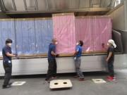 施工事例 - 「プール男女更衣室ロッカー搬出搬入設置」(2020/08)
